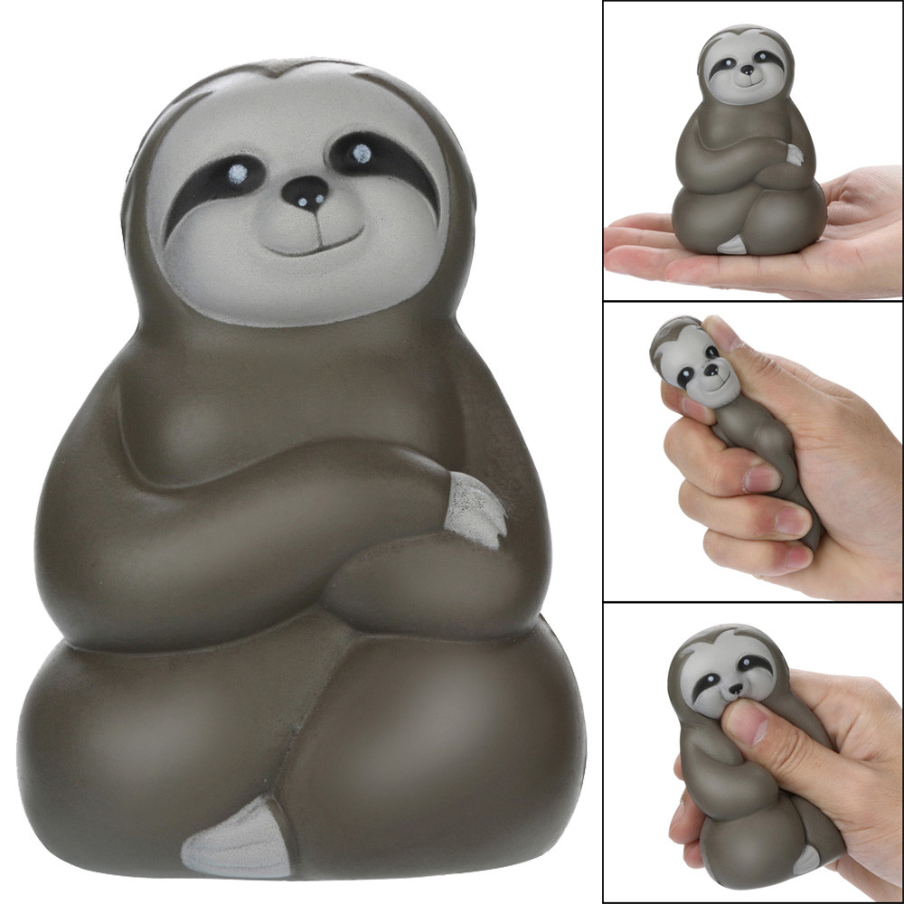 New Cute Toy CartoonAdorable Squishies Soft Sloth Slow Rising Fruit Scented Stress Relief Toys Gifts Christmas Gift For Baby&