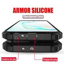 Luxus Rüstung Stoßfest Stoßstange Fall Für Samsung Galaxy Note 10 Plus S9 S8 S10 silikon Fall S8 S9 S10e Plus volle Abdeckung Weichen Fall