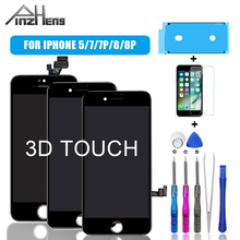 PINZHENG AAAA Display LCD For iPhone 5 7 8 Plus Screen LCD Display Assembly Digitizer Pantalla With 3D Touch Replacement LCD free dhl 3pcs alibaba china original 5 5 inch for iphone 7 plus lcd complete screen display with touch digitizer assembly