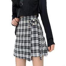 Женская школьная клетчатая юбка в Корейском стиле преппи юбки
