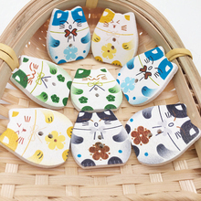 10pcs Lucky Cat 2 Hole Wooden Buttons Scrapbooking Crafts DIY Baby Children lovely Clothing Sewing Accessories Button Decoration