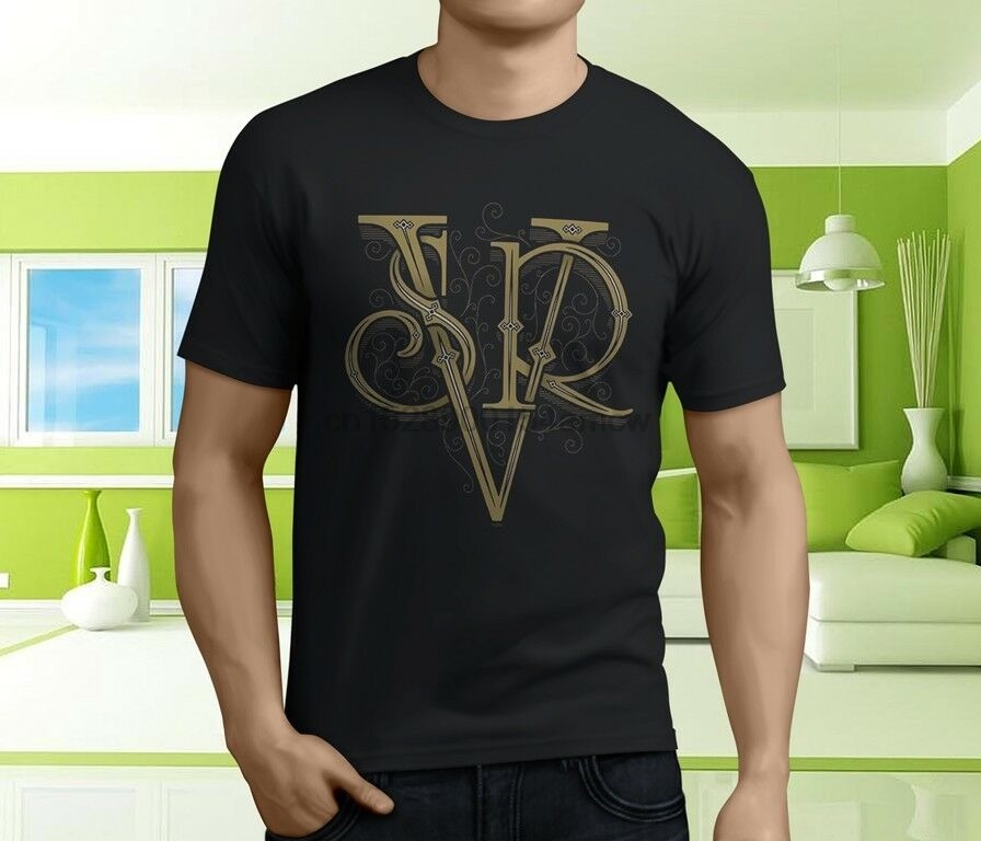 New Cool Srv Guitar Men's Black T-Shirt Size S-5xl