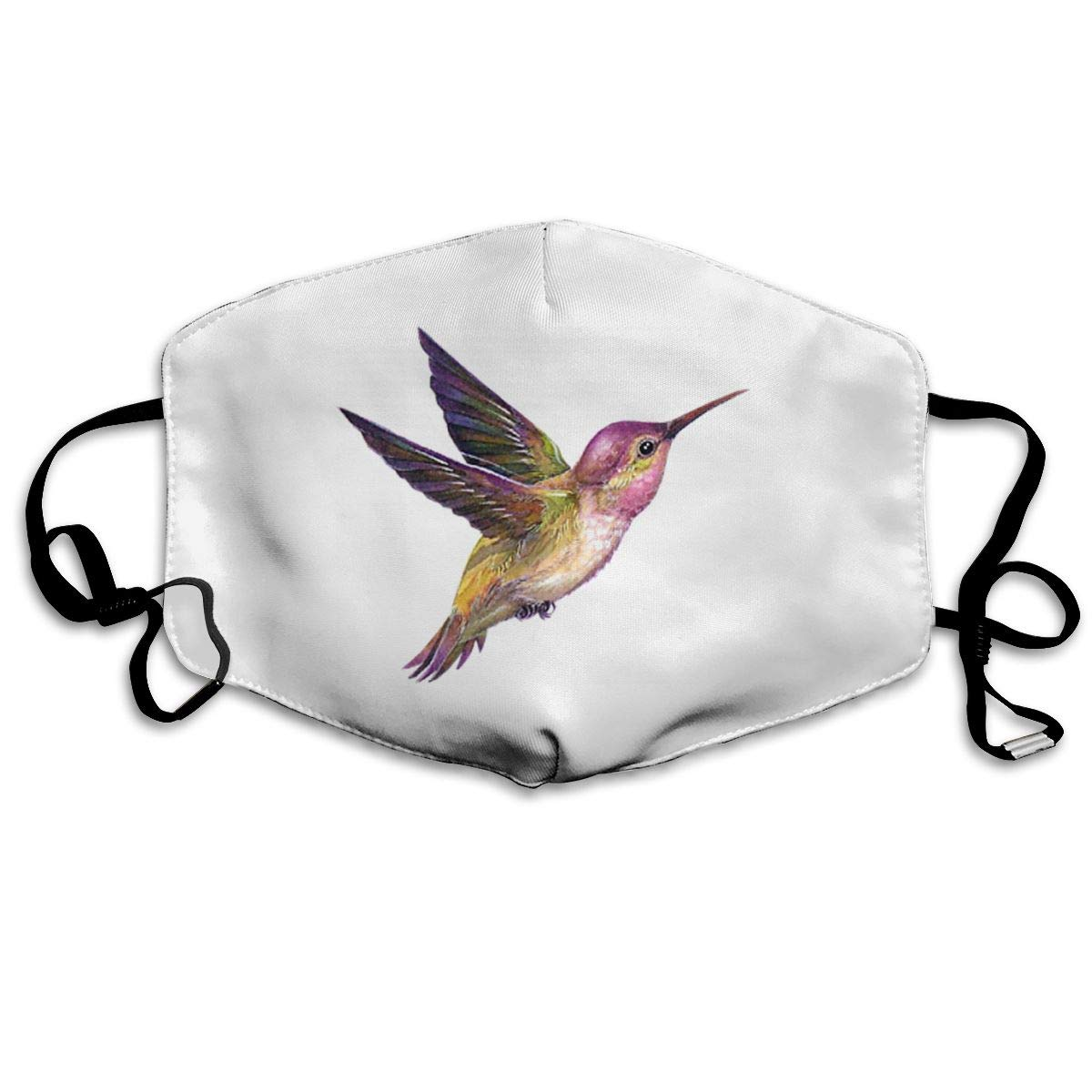 Mouth Mask Pink Hummingbird Print Masks - Breathable Adjustable Windproof Mouth-Muffle, Camping Running For Women And Men