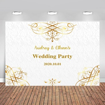 wedding background the blue sky and white clouds party photo backdrops tree flower chair background for photographic studio Photography Backdrops Gold and White Personalized Customization Studio Background for Wedding Party Photo Booth Props
