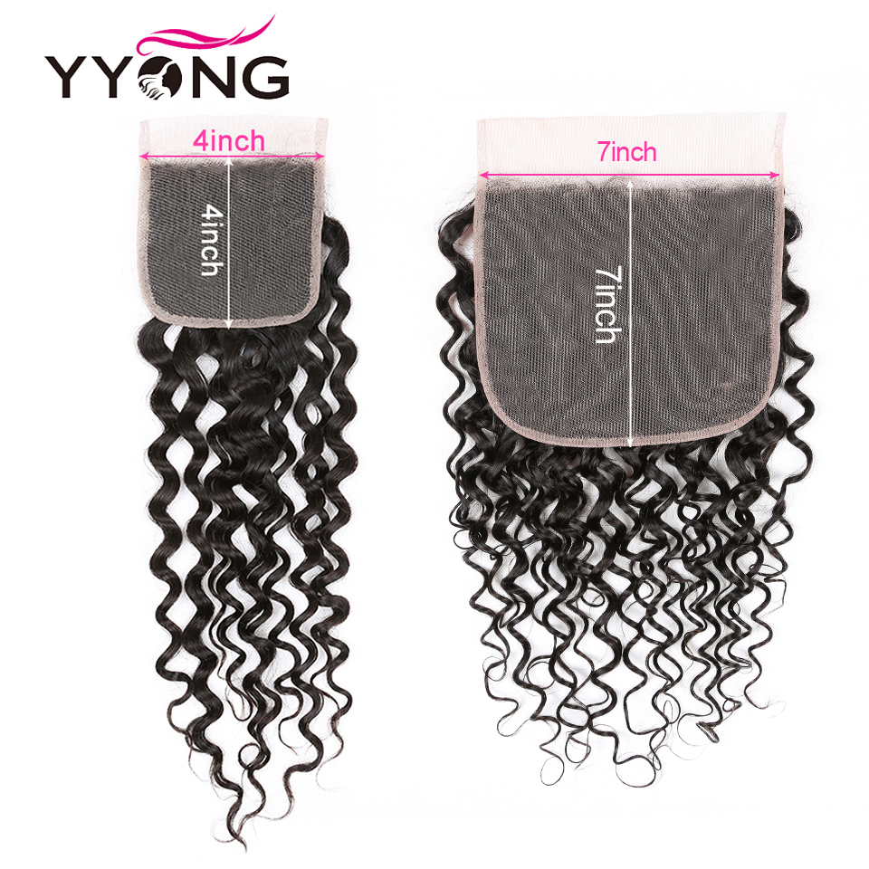Yyong 4x4& 7x7 Lace Closure With Bundles  Water Wave  Bundles With Closure  8-30inch Bundles With Frontal 4