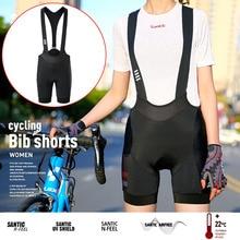 Shorts Cycling-Bib Bike Santic Tights Bicycle MTB Quick-Dry Women New Road Padded Shockproof