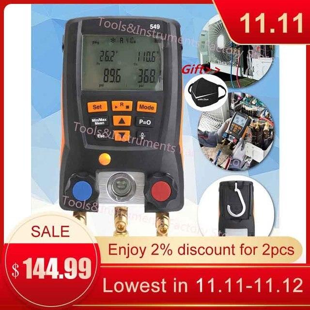 Manometer Kälte Testo 549 Digitale Verteiler HVAC Gauge System Kit Meter 0560 0550 LCD Digital Manometer