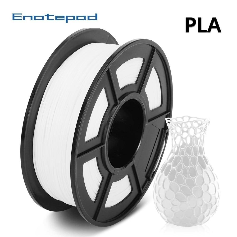 Enotepad 1 75mm 1kg PLA 3d Printer Filament 2 2lbs Pla Materials With Rohs amp reach Certificate 100percent no bubble pla filament 1kg