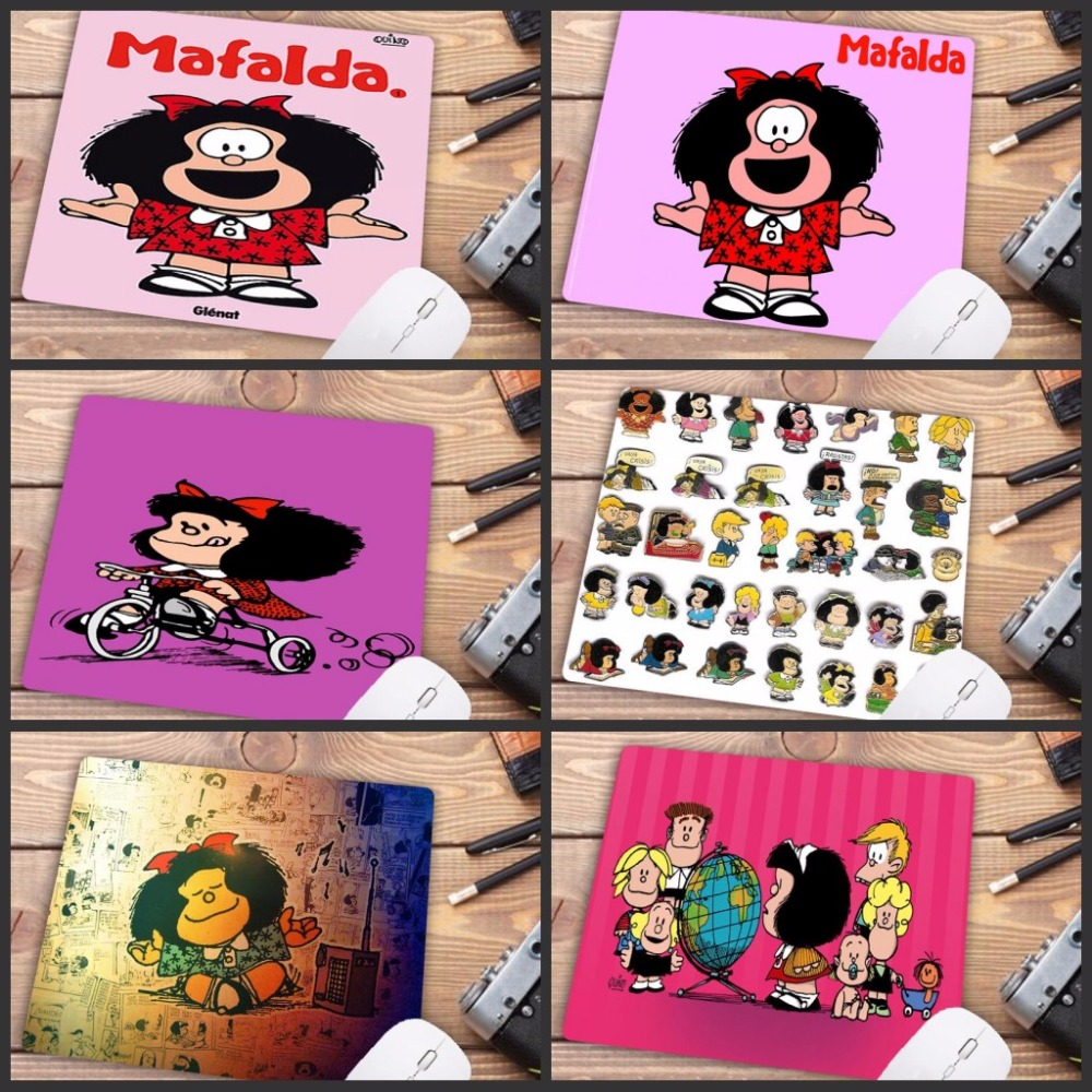Promotion Russia Boy  Pad Cartoon Mafalda Comfort Mouse Mat Gaming Mousepad Size For 18x22cm Rubber Mouse Mats