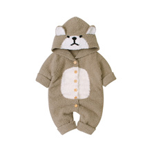 2019 Newborn Baby Winter Hoodie Clothes Polyester Infant Baby Climbing New Spring Outwear Rompers 0-24M Boy Jumpsuit bear стоимость
