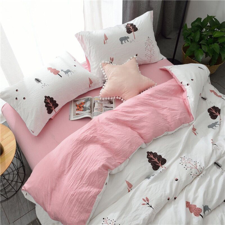 European Style Full King Queen Size Bedding Quilt Cover Home Textile Spring And Autumn Plaid Bedding Sets Duvet Cover Sheet Bed - 2