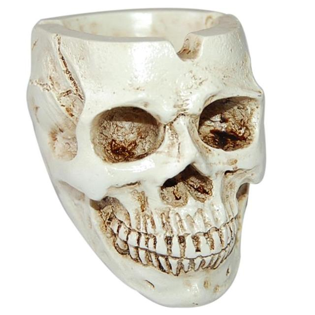 Skull Resin Ashtray Home Ornament Anti-slip Crafts Smokeless Ashtray Cigarette Holder Crafts Halloween Decorative Supplies 6