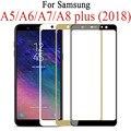 Защитное стекло 9D для Samsung Galaxy J4, J6, A6, A8 Plus, A5, A7, J7, J8 2018