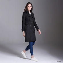 2019 Womens Coats High-end Woman Classic Double Breasted Trench Coat Waterproof Raincoat Business Outerwear