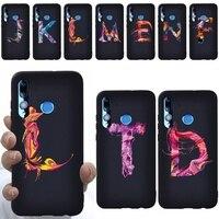 Funda de teléfono para Huawei Honor 10 Lite/Honor 20 Lite, funda trasera ultrafina de silicona TPU suave con estampado de letras de pintura de lujo