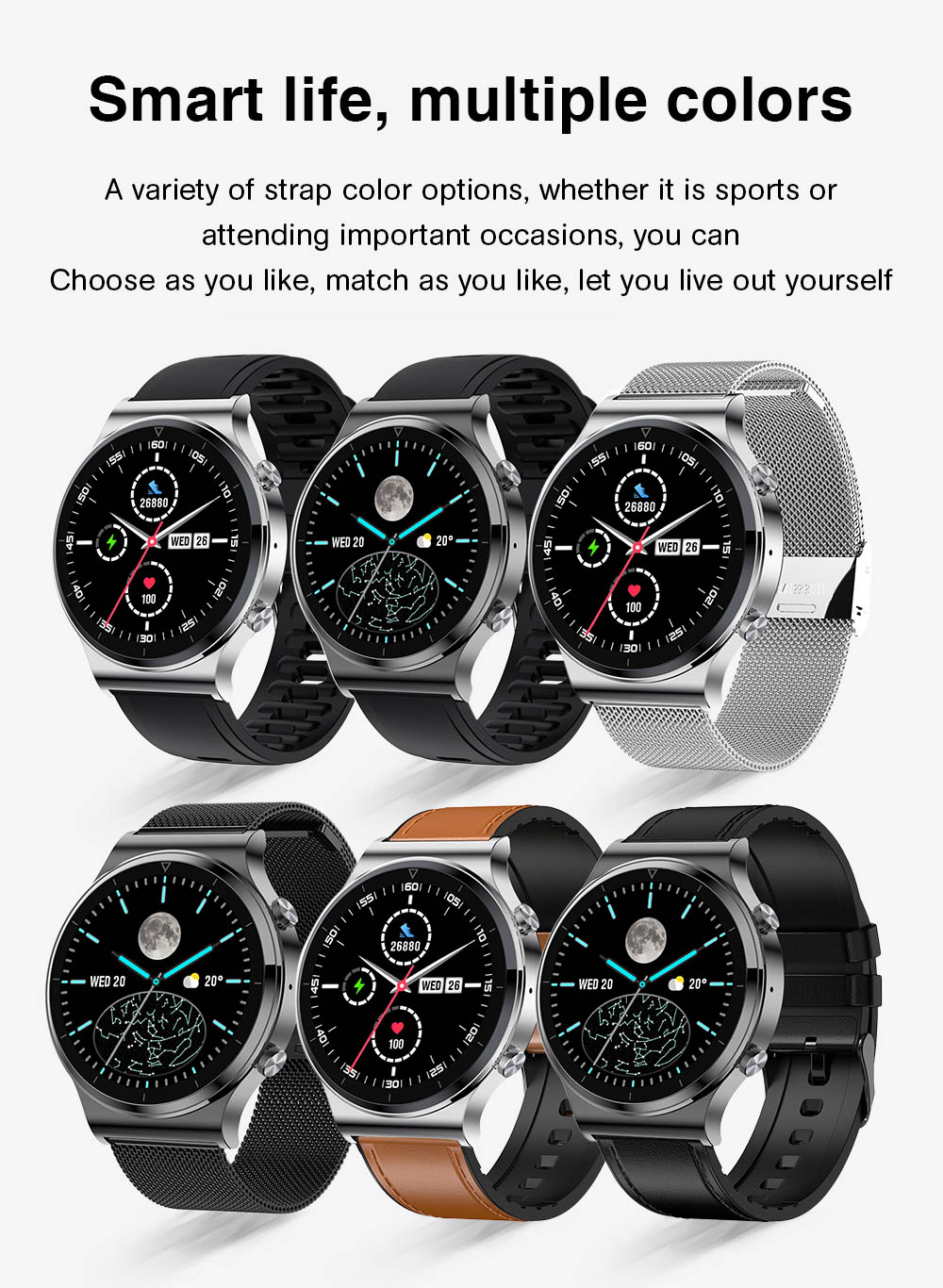 H86706ef97d444a408ee2ad578e7d30d0r NUOBO 2021 New Smart Watch Men Bluetooth Call Heart Rate Blood Pressure Sports IP68 Waterproof Smartwatch for Android IOS Phone