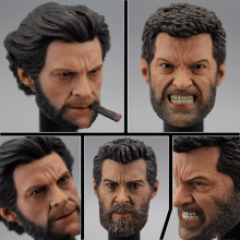 Голова скульптурная модель Росомаха 1/6 детали солдатика Логан хуг Джекман военная полиция молодая гневатая версия