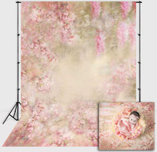 Mehofond Newborn Pink Floral Backdrop Flower Girl Baby Shower Birthday Party Photography Background Photo Studio Decor Props