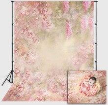 Mehofond rosa floral backdrops primavera recém nascido do bebê menina retrato flor fotografia fundo para photo studio photozone adereços