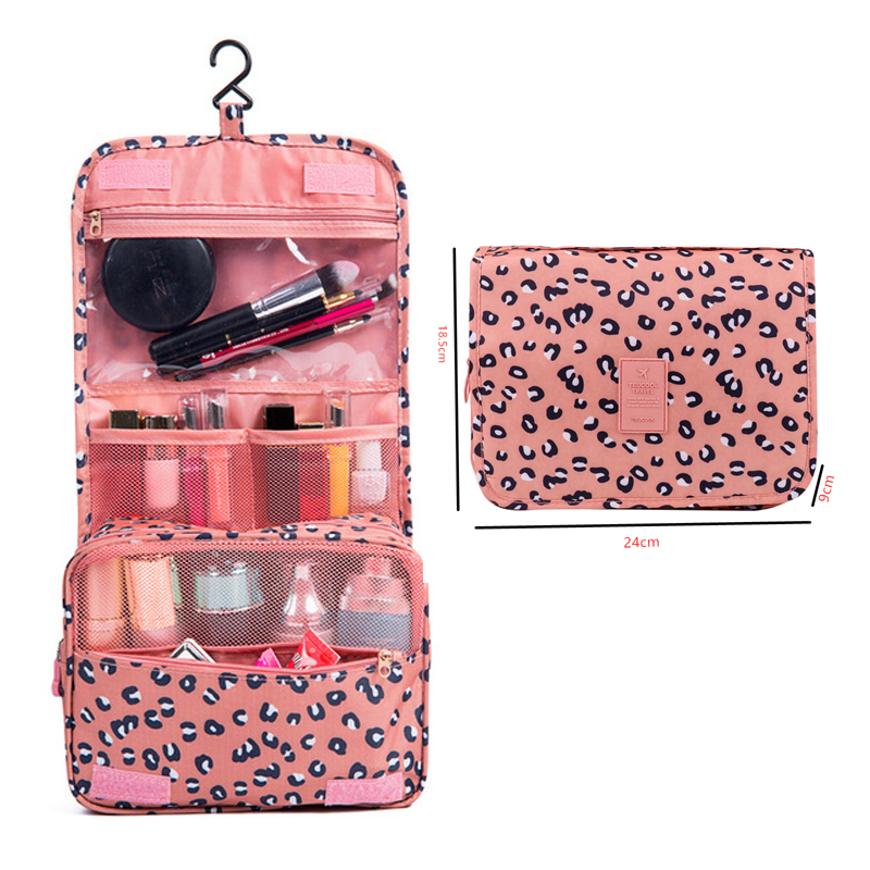 Large Capacity Cosmetic Bag Hanging Waterproof Cosmetic Bag Travel Toiletries Storage Bag Convenient Bathroom Storage Bag