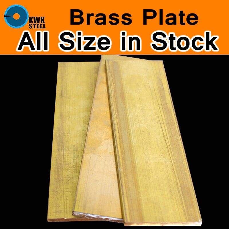 Brass Sheet Plate Bulk Block Metal Of Cu CuZn40 2.036 CW509N C28000 C3712 H62 Mould Material Laser Cutting CNC DIY Machine