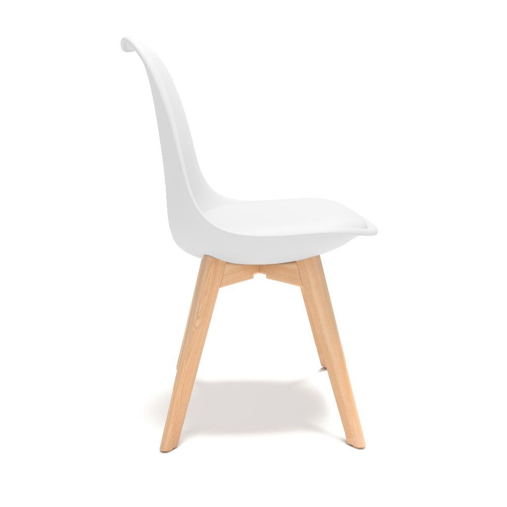 伊姆斯椅子郁金香白色(角度3)