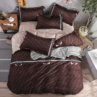 Luxury Bedding Sets Brown Bedclothes Duvet Cover Bed Sheet Pillowcase Brief Set Full King Queen Twin Size Bedding Set