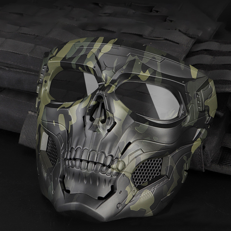 Skull Masks  Paintball Outdoor Tactical Breathable Hunting Shooting  Military Full Face Safety Airsoft Paintball Masks