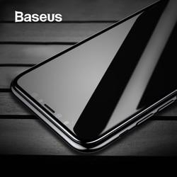 Baseus закаленное стекло для iPhone X защита экрана 4D поверхность полное покрытие стекло для iPhone X Передняя пленка крышка 0,3 мм тонкая пленка