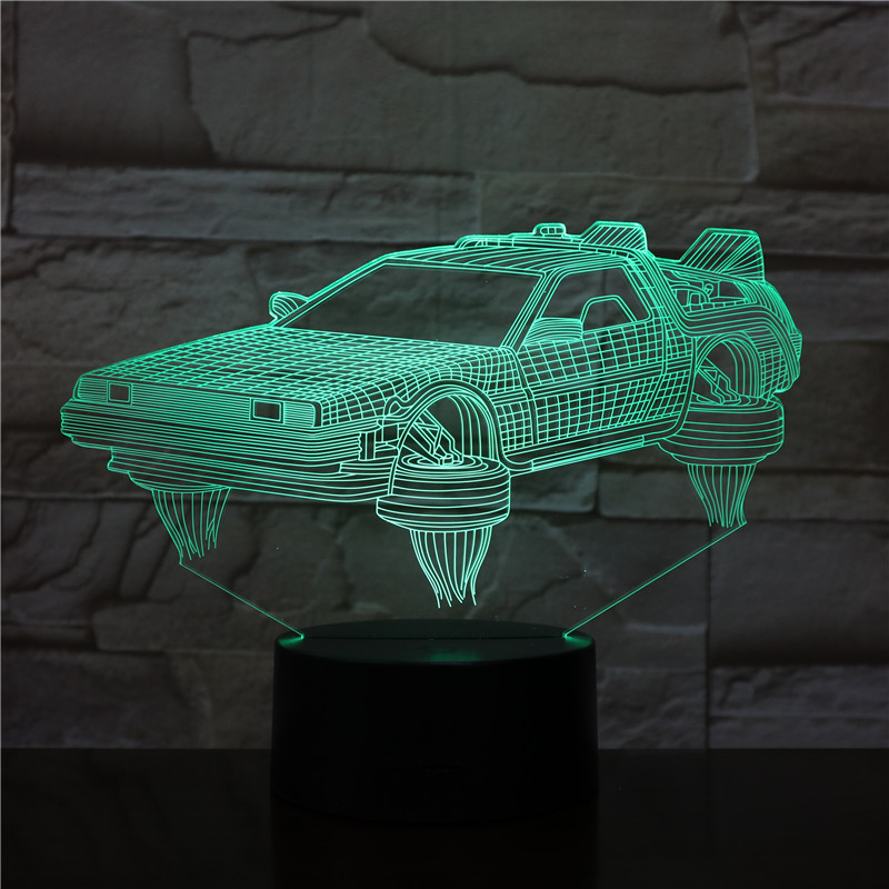 3D-2315 Touch USB Indoor Lighting Car Shape Small Night Light Novelty Led 3D Visual Night Light 7 Colors Changeable Desk Lamp