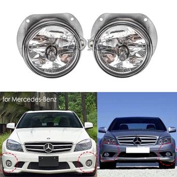 2 uds faros antiniebla para mercedes-benz W204 C300 C350 W164 ML320 W251 R350 SL63 AMG R350 faros drl foglights para coches