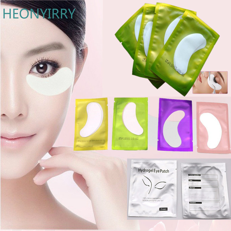 100pairs/pack New Paper Patches Eyelash Under Eye Pads Lash Eyelash Extension Hydrating Eye Tips Sticker Wraps Make Up Tools