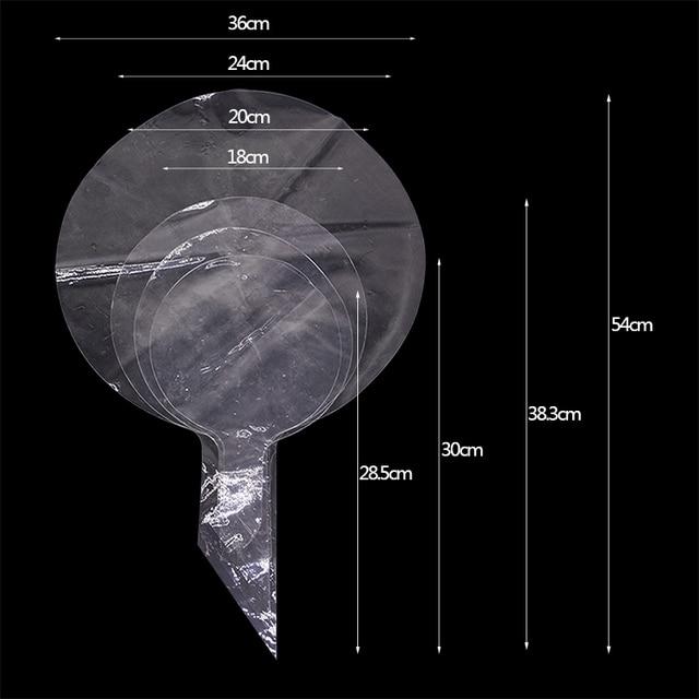 5pcs 18''20''24''36'' Trasparente Globes Chiaro Pallone Ad Elio Gonfiabile Bobo Palloncini Matrimonio Compleanno Baby Shower Decorazione 3