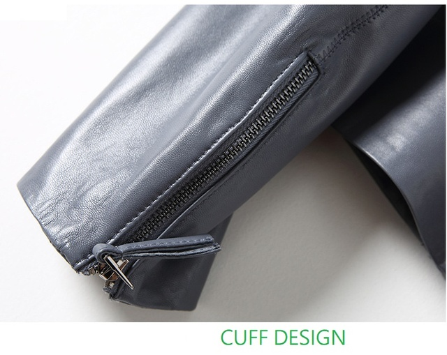 YR!Free shipping.fashion Ladies genuine leather jackets.chic ,trendy ,vintage sheepskin, motor jackets