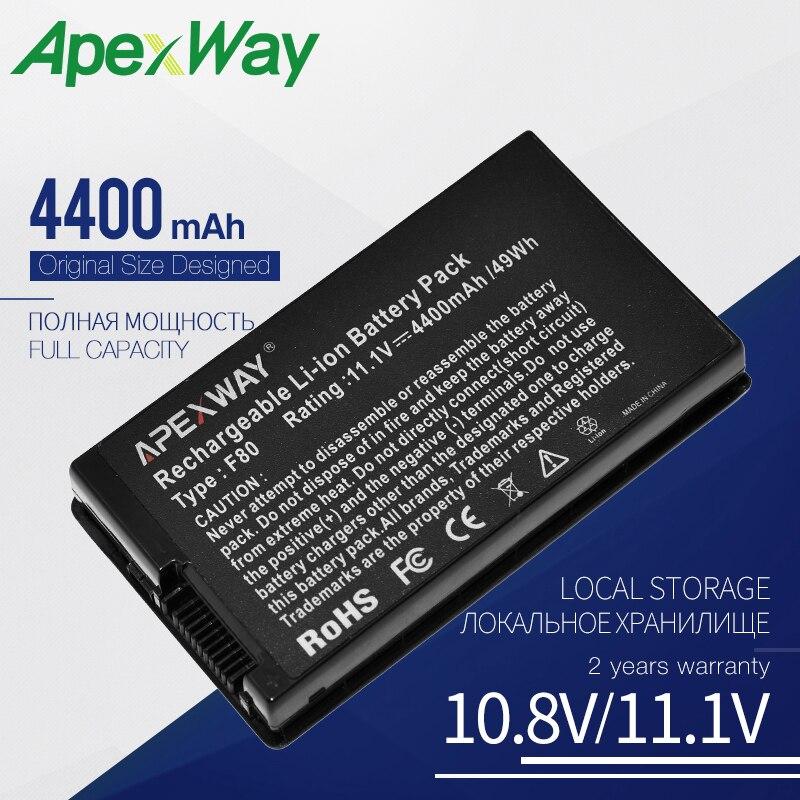 11.1V Laptop Battery A32-F80 A32-F80H A32-A8 For ASUS F5 X80 Series F50 F50Z F80 F80S F81 F83T F83VF A8 A8F A8H A8Sr A8Tc A8Z