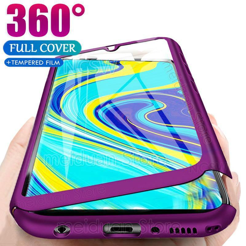 360 Full Body Case For Xiaomi Redmi Note 9S 9Pro Max Hard Case For Redmi K20 Note 5 6 7 8 9 Pro Max 8T 8A Shockproof Cover Funda