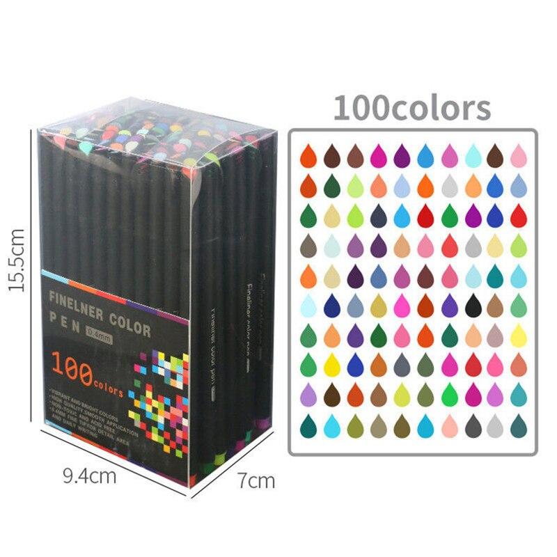 12/24/36/48/60/100 Colors 0.4mm Micron Liner Fineliner Pens for Metallic Marker Draw Pen Color Sketch Marker Art Set Stationery