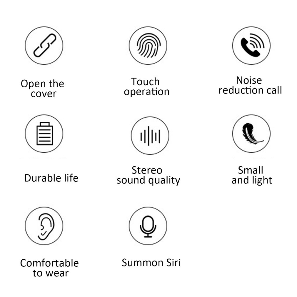 Стерео XY-7, беспроводные Bluetooth 5,0 наушники, бинауральные, настоящие, TWS, Smart Touch, шумоподавление, вызов, длительный срок службы, удобная одежда