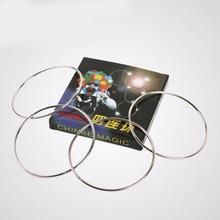 1 Juego de cuatro anillos de enlace conectados 4 anillos de enlace tubo de acero diámetro 10cm Accesorios de trucos de magia gimmicks