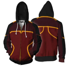 Anime Costume Avatar-Hoodie Airbender Cosplay Jacket Halloween Fashion Polyester Zipper-Up