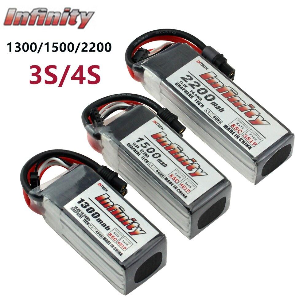 Unendlichkeit 3S LiPo Batterie 2200mah 85C Mit SY60/XT60 Stecker Stecker Graphene Tech für RC Quadcopter Drone akku-in Teile & Zubehör aus Spielzeug und Hobbys bei title=