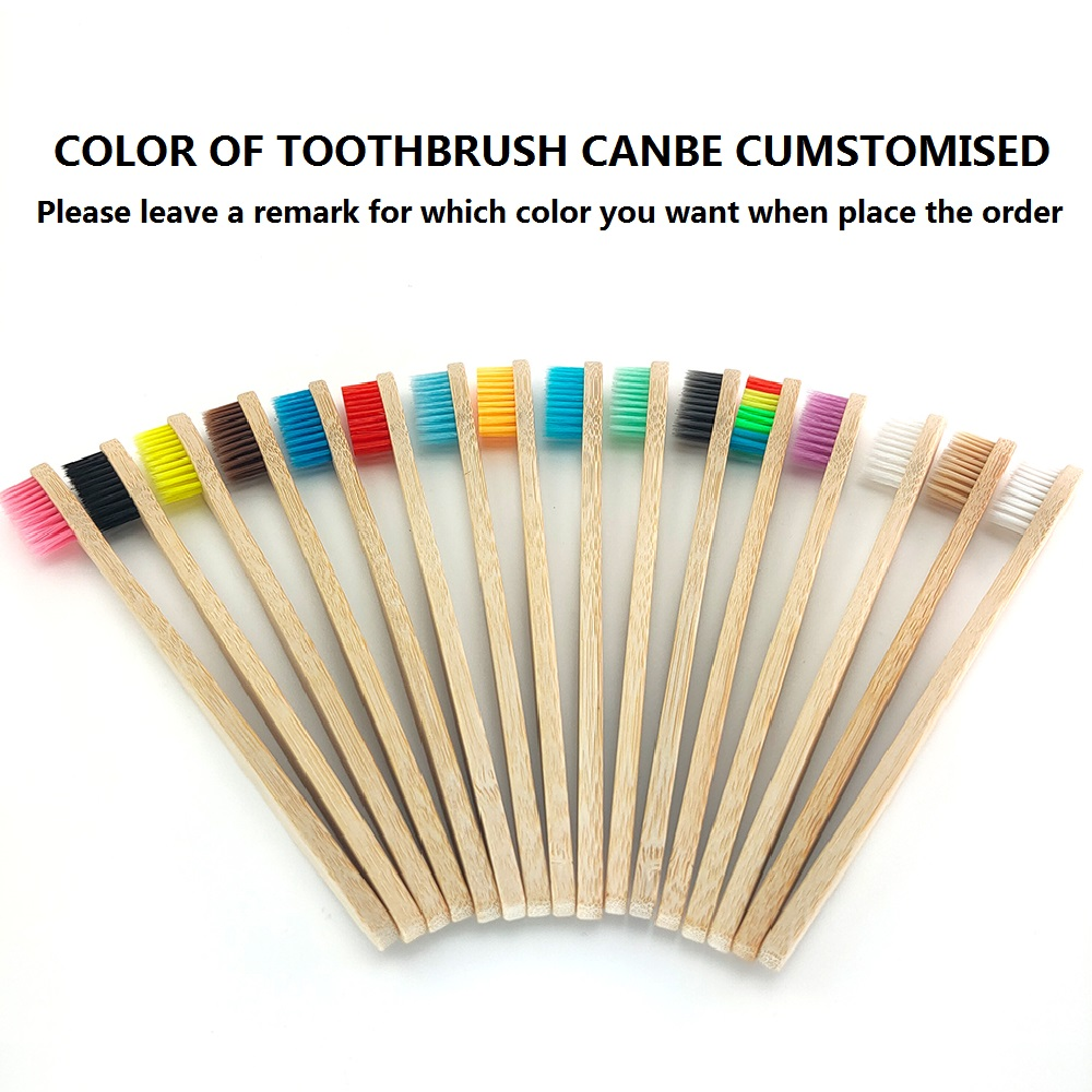 Best Bamboo Toothbrush Set Travel Portable Oral Care Tool with Bamboo Straw Case Brush Dustproof Tube Wood Toothbrush Holder image