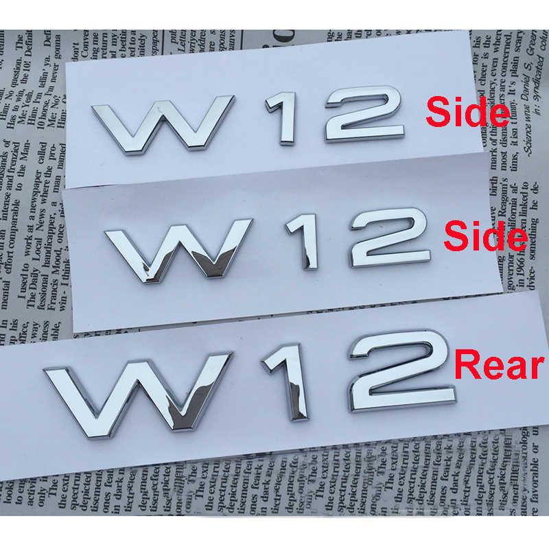 מכתב מספר סמל V6T V8T V10 W12 רכב סטיילינג פגוש צד אחורי Trunk תג מדבקת לוגו עבור אאודי A4L A5 a6L A7 A8L TT RS7 SQ5