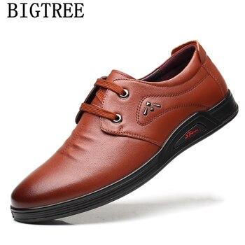 Zapatos de Hombre de cuero genuino, Zapatos de marca de lujo negros...