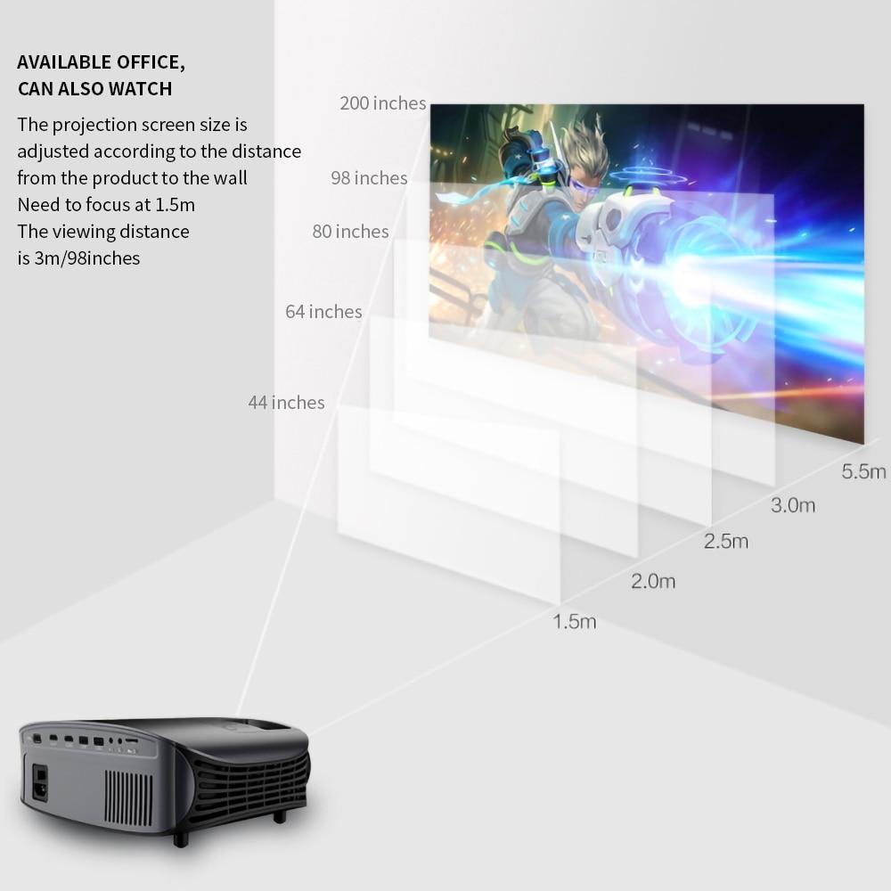 Image 5 - LEJIADA YG600 HD Projector LCD Beamer Support Full HD 1080P YG610 Home Theatre HDMI VGA USB Video Portable LED Projector    -