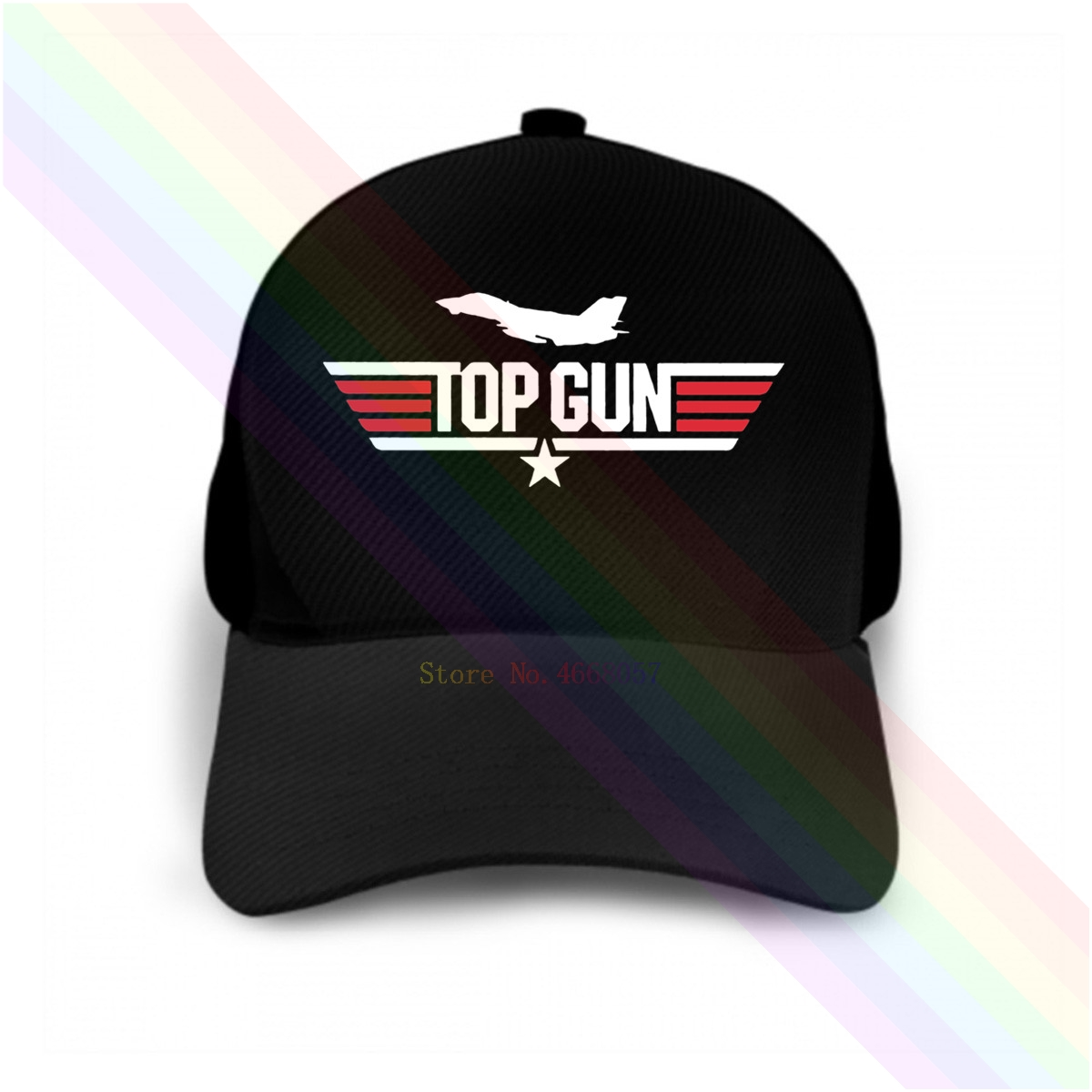 Bright Top Gun Tom Cruise F-16 2020 Newest Black Popular Baseball Cap Hats Unisex