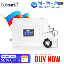 Lintratek 2g 3g 4g Cellular Signal Booster GSM 900 1800 2100 GSM WCDMA UMTS LTE Cellular Repeater Band3 Mobile Phone Amplifier