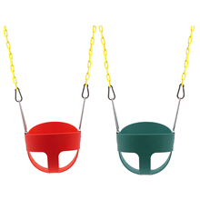 Outdoor Kids Swing Set Full Bucket Toddler Swing With Swing Safe Comfortable Chains For Playground Hold Up To 250 Lbs