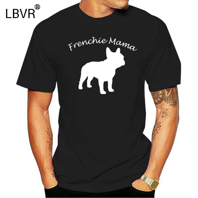 Creëren Frenchie Mama Voor De Franse Bulldog Mom Mens Tee Shirt Vrouwen Crew Neck Outfit Heren T-shirt Korte-mouw Kleding Hiphop