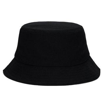 New Black Bucket Hat Harajuku  Hats Man Woman Fisherman Hip Hop Cap Outdoor Beach Sun